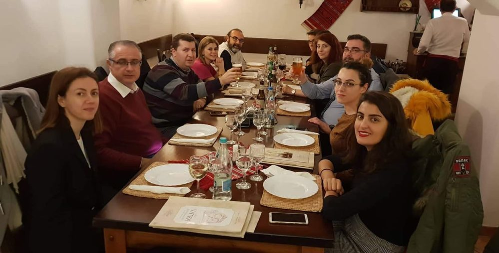 Dinner with all the partners of the DESK project in Bucarest