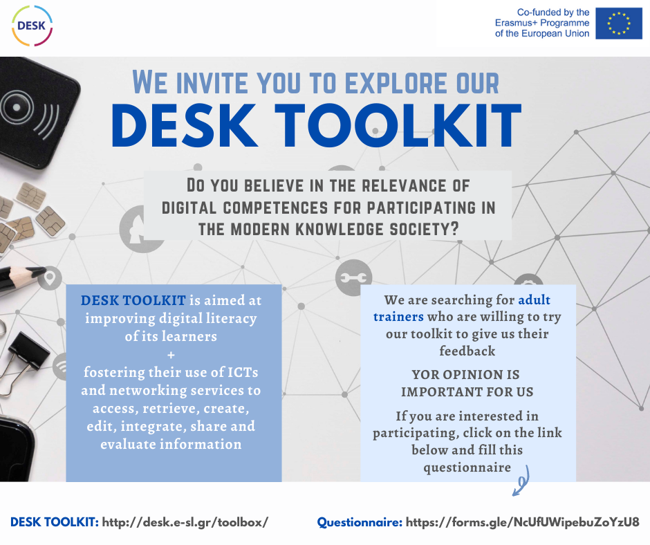 We invite you to explore our DESK Toolkit