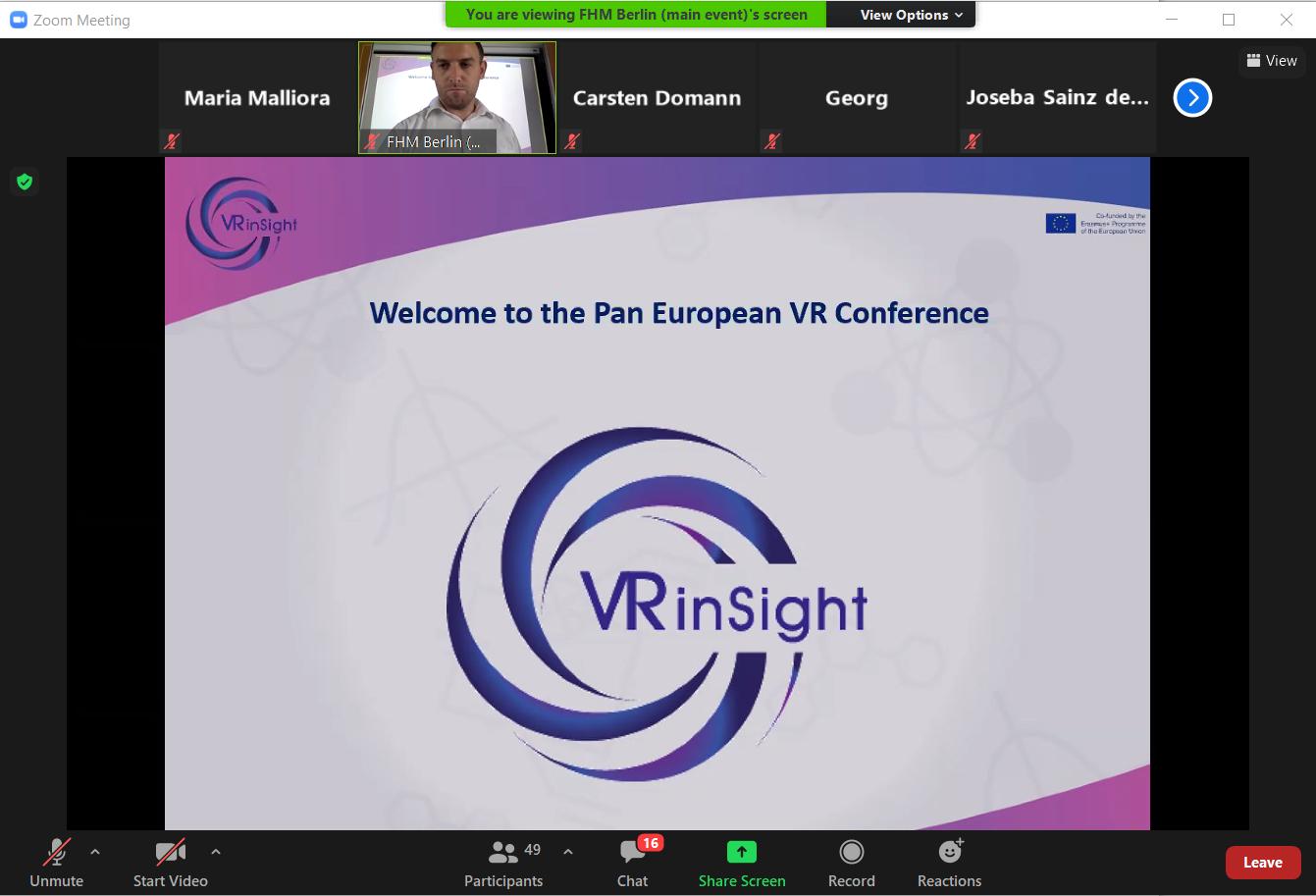 Pan-European VR Online Conference